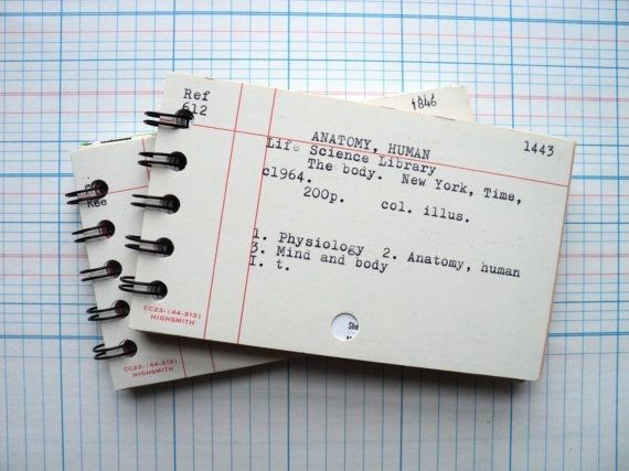 Unique Reader Gift - Library Card Notebook - Library Card Catalog ...