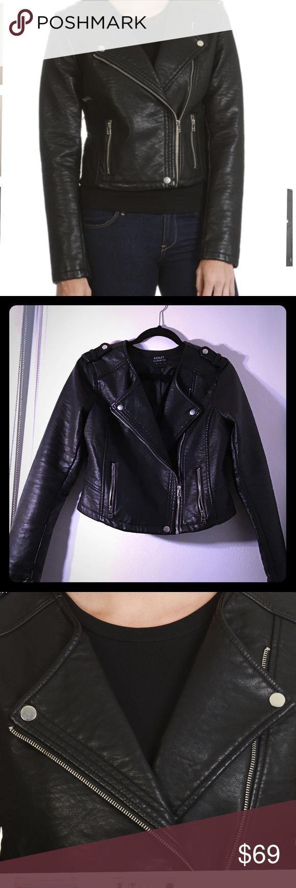 Ashley Outerwear Women S Jacket Ashley Outerwear Women S Faux Leather Moto Jacket Jackets Coats Outerwear Women Jackets Jackets For Women [ 1740 x 580 Pixel ]