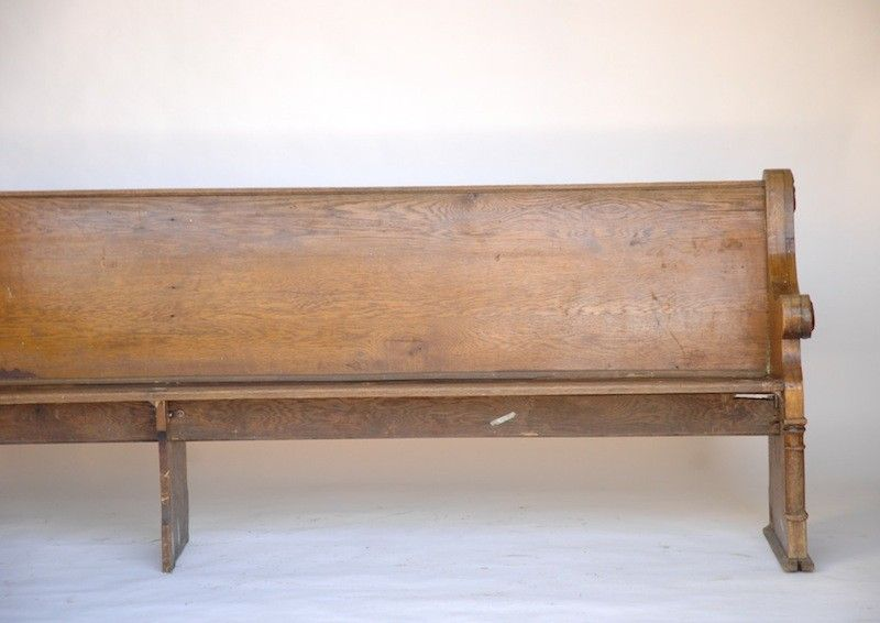 [Found Vintage Rentals: Turlock Wooden Pew. ] To be placed at ceremony site.