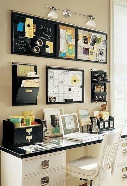 Best 25 Home Office Organization Ideas On Pinterest Office Pertaining To Amazing Residence Office Desk O Bureau A Domicile Decoration Bureau Idee Deco Bureau