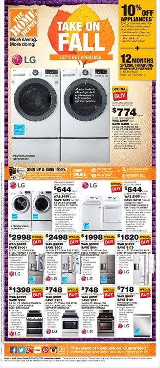 home depot catalog 2015 home depot weekly ad october 11 14 2015 http www 596