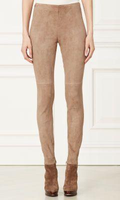 Eleanora Stretch-Suede Pant - Collection Apparel Pants - RalphLauren.com