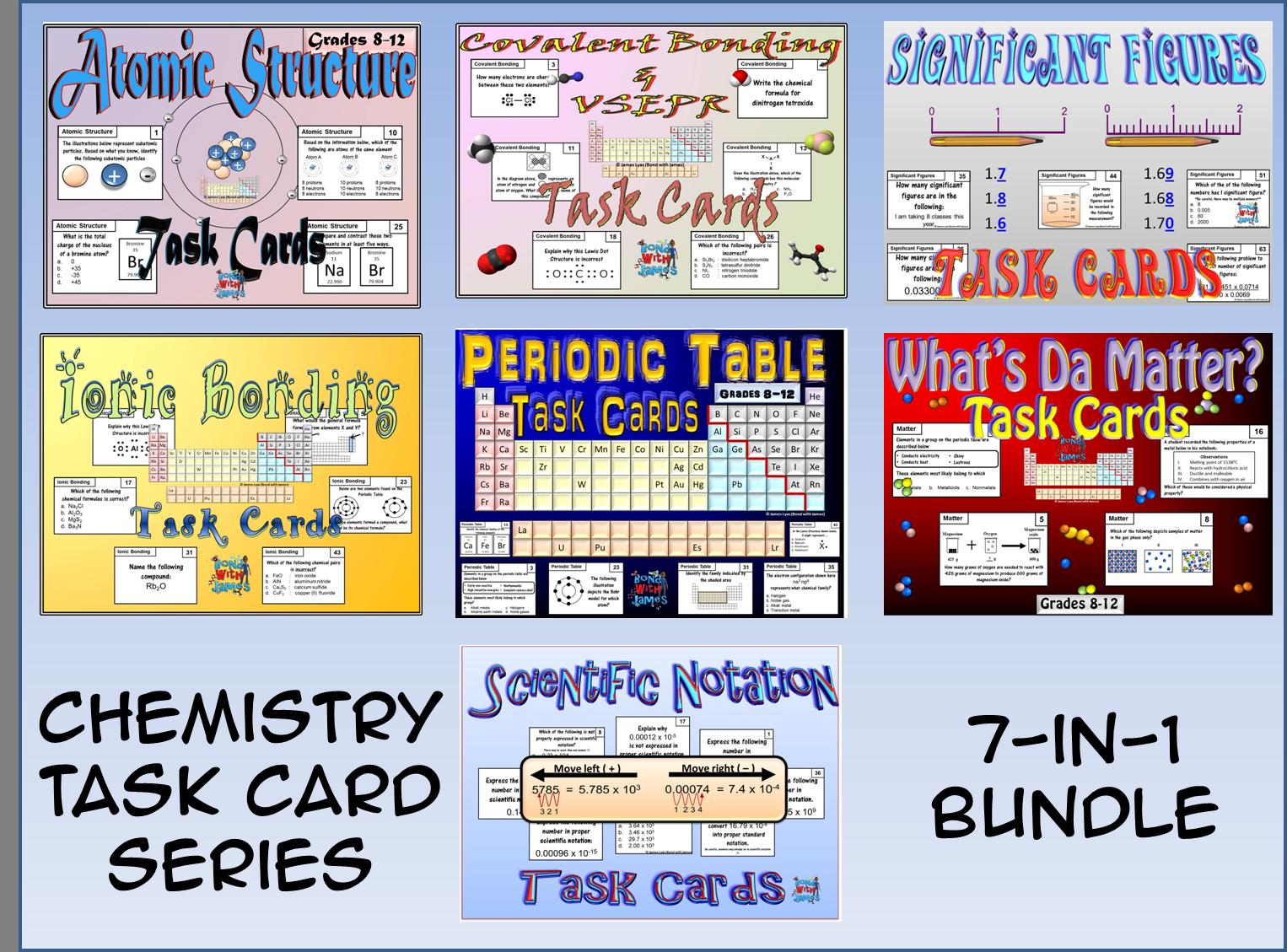 Chemistry Task Cards Series 9 In 1 Bundle
