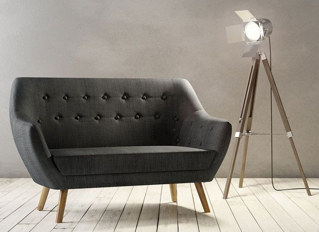 High Street Retro Sterling Midcentury Style Sofa And Armchair At Matalan