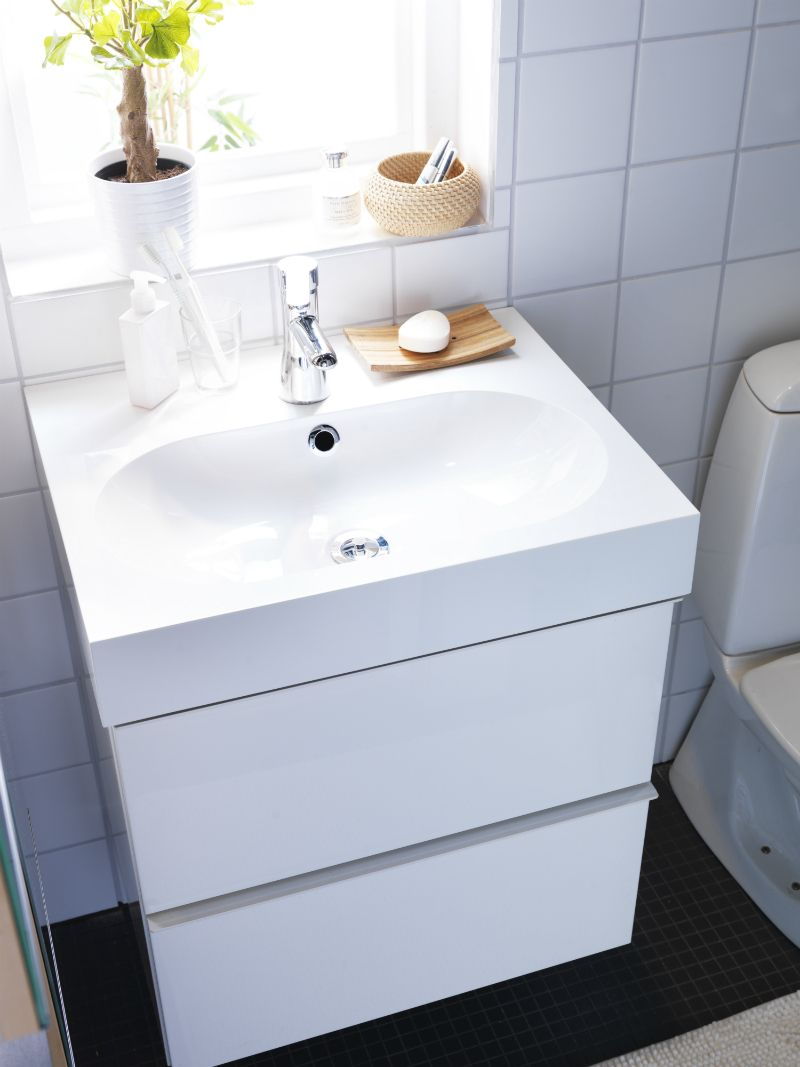 IKEA Bathroom; GODMORGON. Maybe for my teensy \