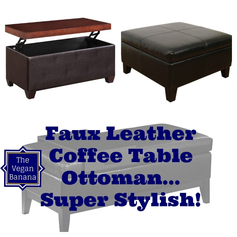 5 faux leather coffee table ottoman combos for your