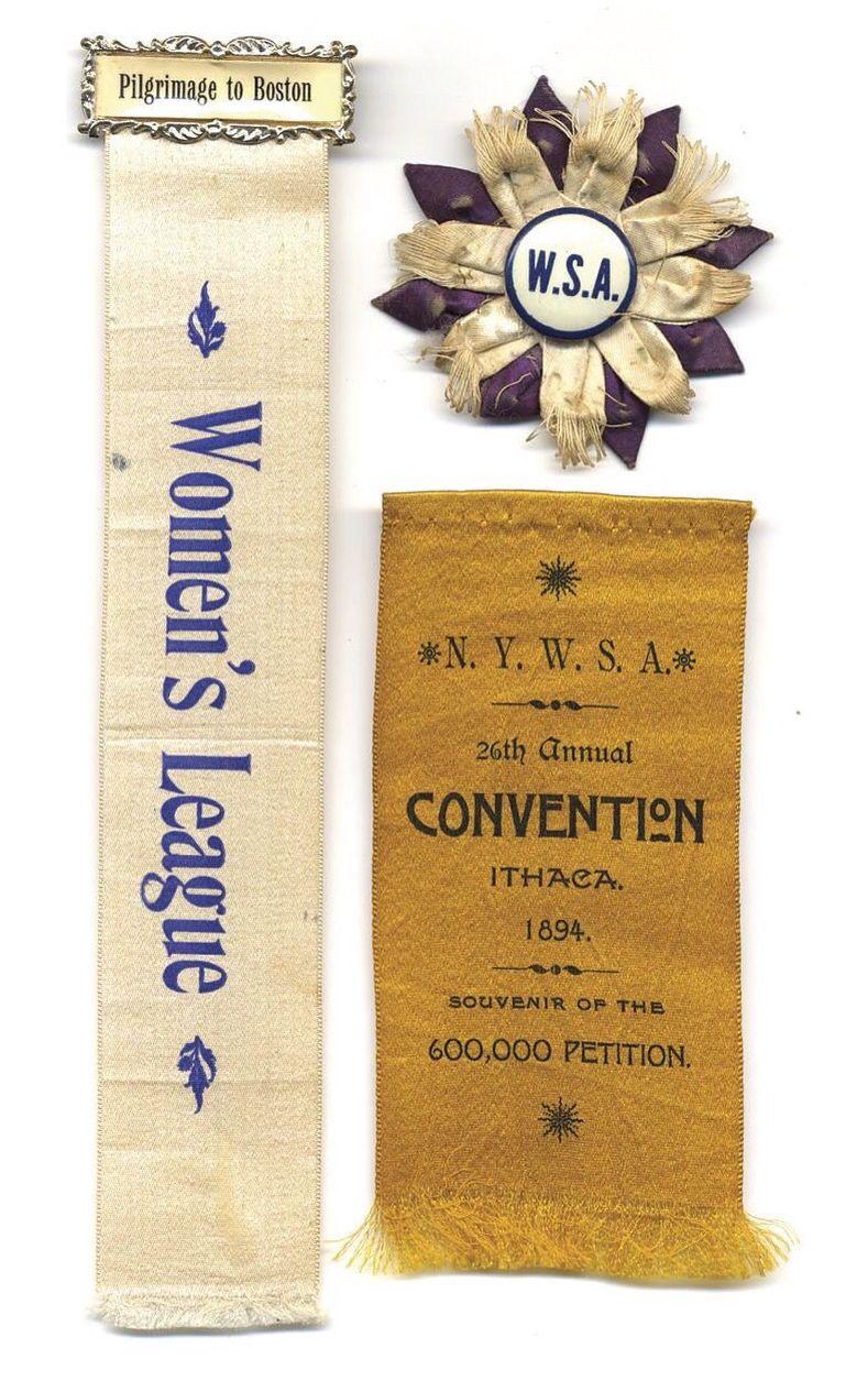 Ny Woman S Suffrage Association Ribbon 1892 Women Suffragette Movement Essay
