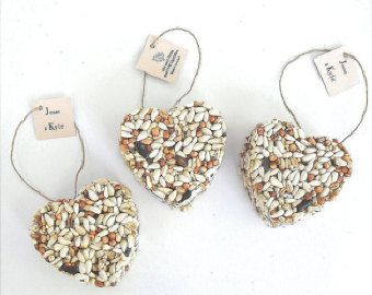 Items similar to 100 All Natural Bird Seed Heart Party Favors - Unique Bridal Shower Favor Ideas by Nature Favors on Etsy