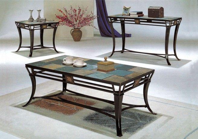 3 Piece Slate Coffee Table Set Home Design Ideas Coffee Table Slate Coffee Table Coffee And End Tables