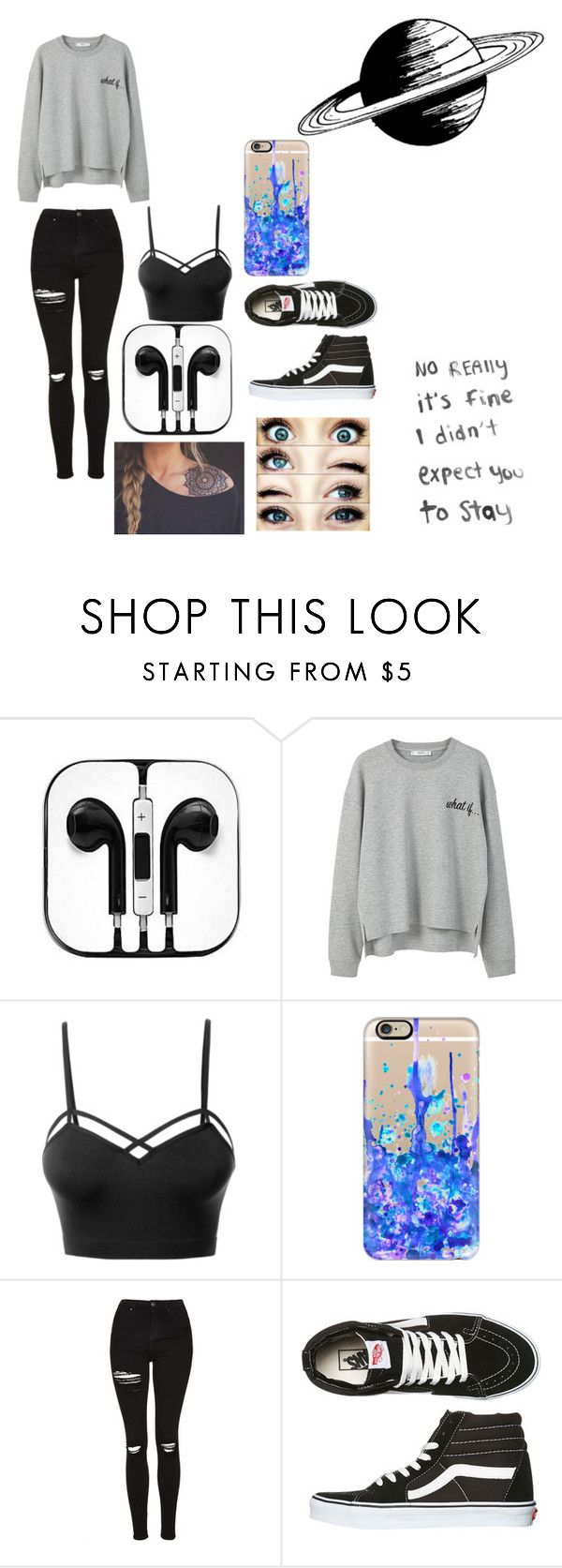 """Are you high enough without the Mary Jane like me"" by sweetfrogg29 ❤ liked on Polyvore featuring MANGO, LE3NO, Casetify, Topshop and Vans"