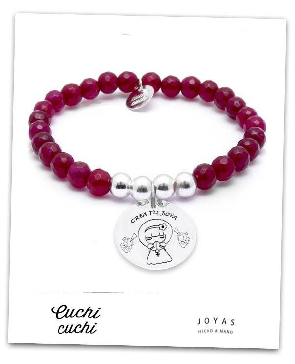 bf9a6e992724 mi regalo de primera comunion pulseras de la virgen con nombre ...