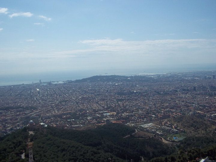 Great view of the city from Tibidabo, Barcelona (Spain)