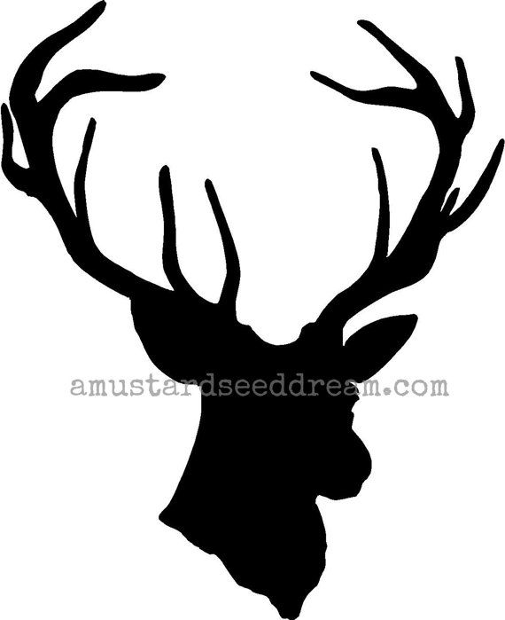 Deer Head Silhouette vinyl decal sticker    This ever popular home decor item is now available in vinyl decal! Dont want the real thing hanging
