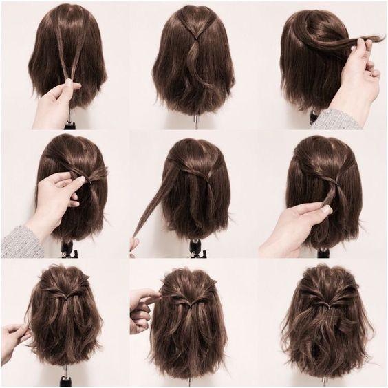 Tutorial Easy Braids Medium Hair Hair Styles Braids For Short Hair Short Hair Styles