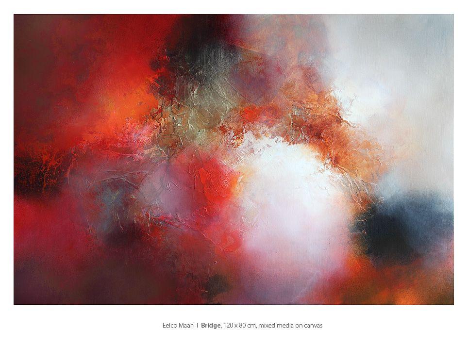 Eelco Maan I Bridge, mixed media on canvas, 120 x 80 cm. Sold by Galerie Eclat d'Art, Colmar, France I http://galerie-eclatdart.com/