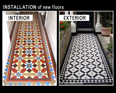 The Left Hand Exterior One Outside Victorian Property Flooring Victorian Tiles Mirror Interior Design