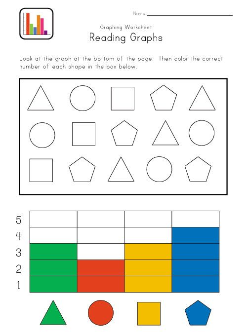 Graphing worksheet for kindergarten math