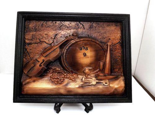 Arredamento Cantina ~ Quadro pannello arredamento rustico cantina legno bassorilievo