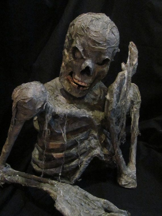 HalloweenZombie Groundbreaker Corpse Prop Pensive by HBakerStudio - zombie halloween decorations