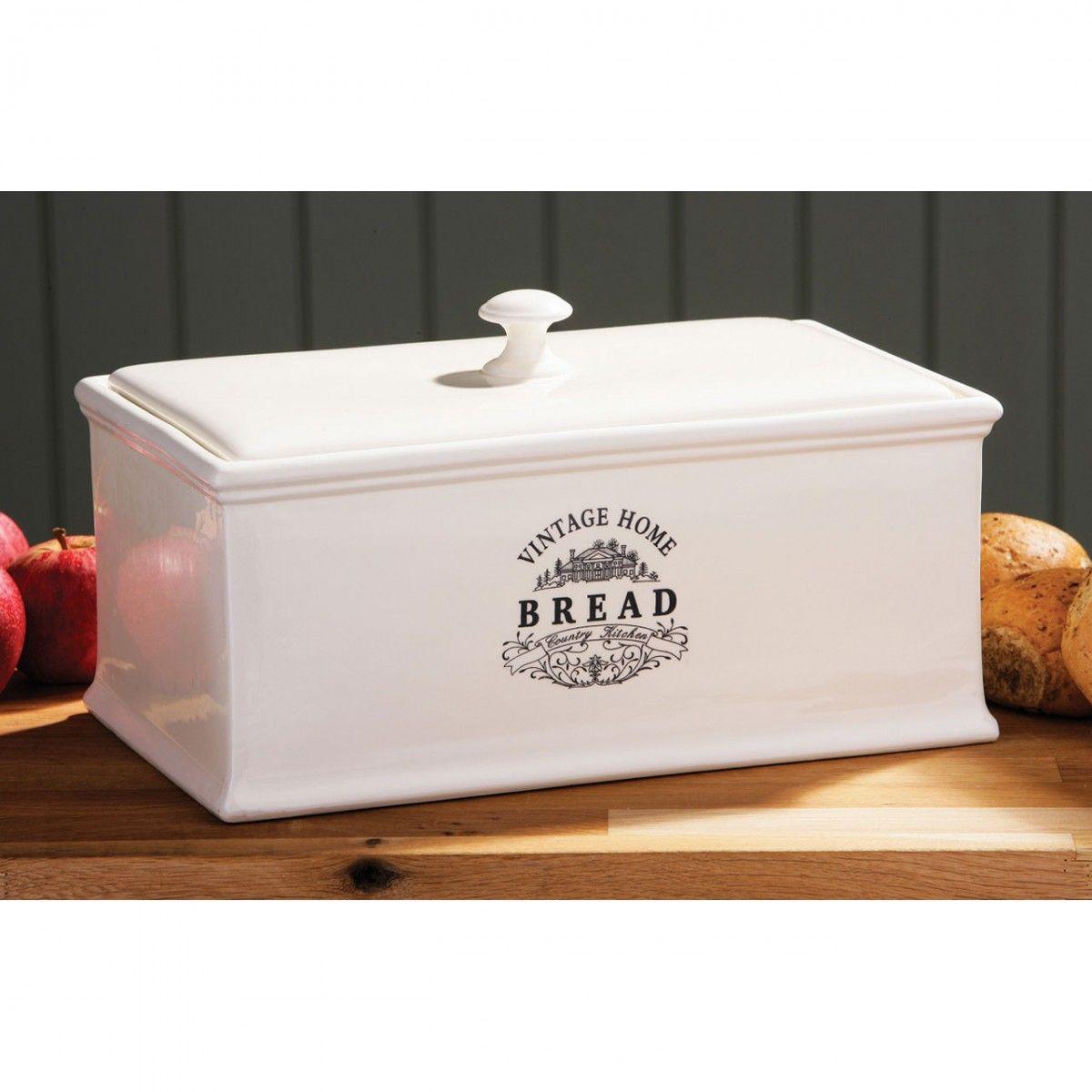 Ma Maison Bread Crock Cream Ceramic Bread Storage Vintage House Ceramic Bread Box