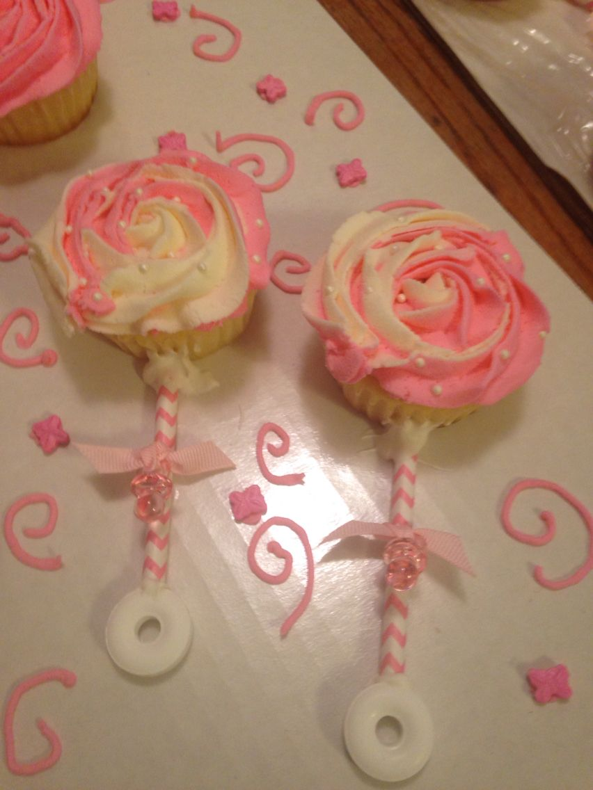 Lovely Baby Shower Cupcake Rattles Part - 4: Baby Rattle Cupcakes More