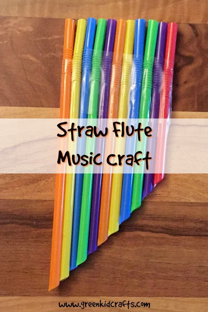 Make a straw windpipe from straws with this music crafts for kids.