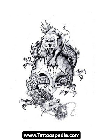 Chinese Dragon Tiger Tattoo 01 Design Ideas Tiger And Dragon