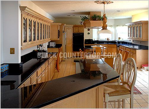 Black Marble Kitchen Countertops | BLACK GALAXY COUNTERTOPS, BLACK Granite  Countertops