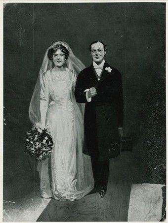 Winston Clementine Churchill Wed 1908 Clementine