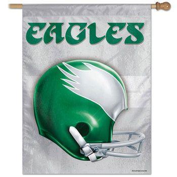 quality design 32e7b 55508 Philadelphia Eagles Retro Helmet NFL Banner Flag ...