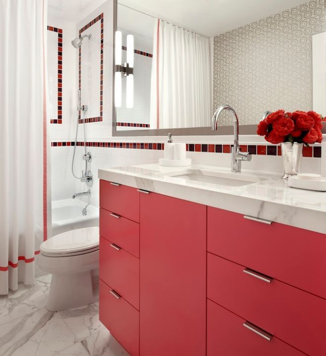 Be Inspired To Paint Your Bathroom Vanity (a non-neutral color