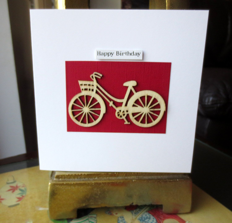 Bicycle bike cyclist birthday card bike birthday card birthday bicycle bike cyclist birthday card bike birthday card birthday card her him granddaughter grandson birthday card wooden card m4hsunfo