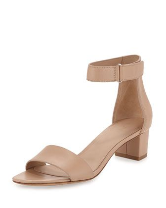 Rita+Leather+Block-Heel+Sandal,+Nude+by+Vince