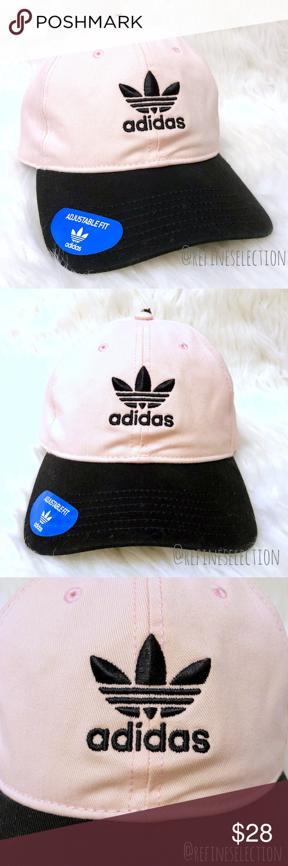 3a4a69e486b adidas Trefoil Pink And White Strapback Dad Hat NWT in 2018