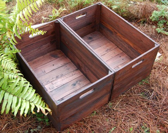 Set Of Large Looney Bin Crates Apple Crates Wooden Crates