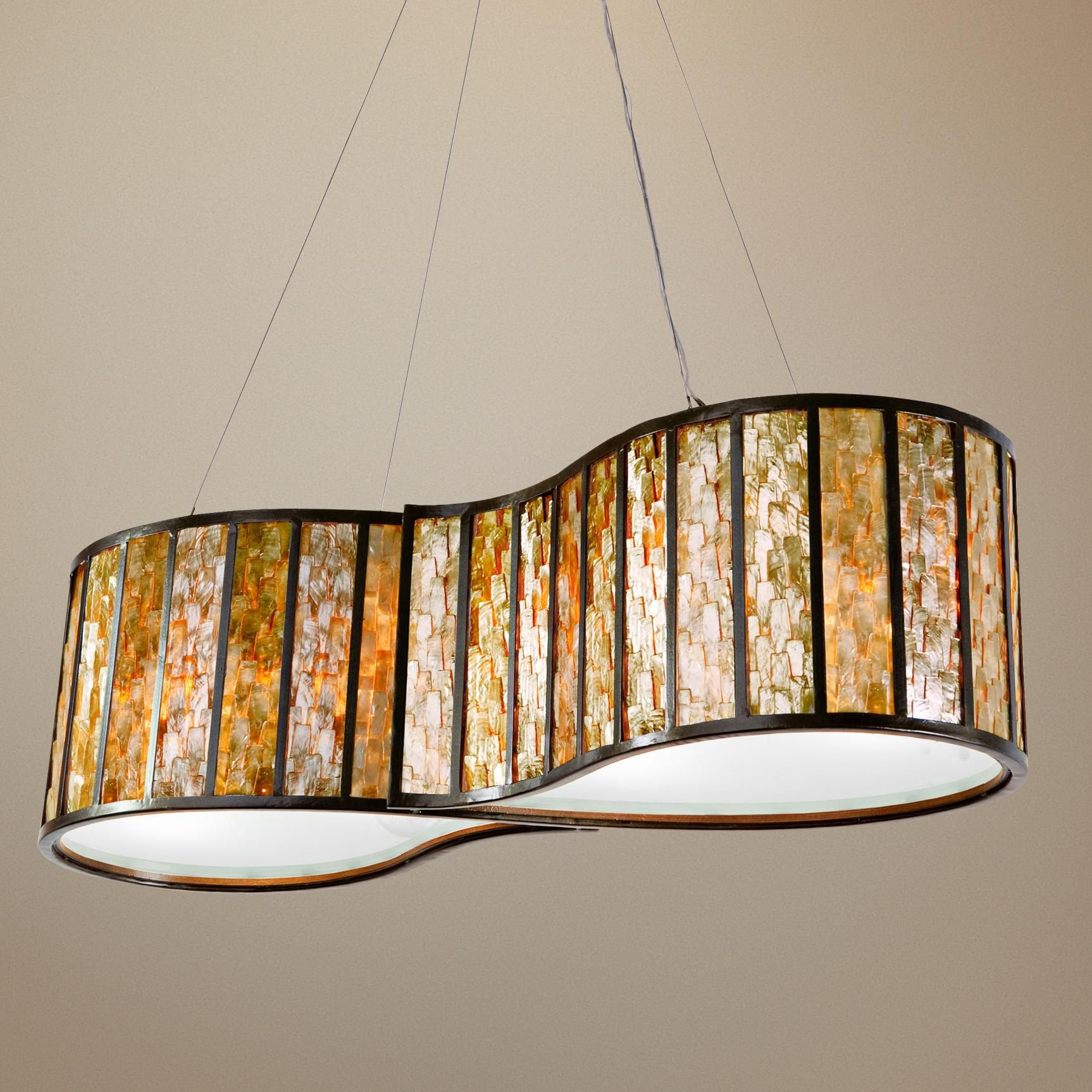 Varaluz Affinity Natural Capiz Shell 4 Light Pendant
