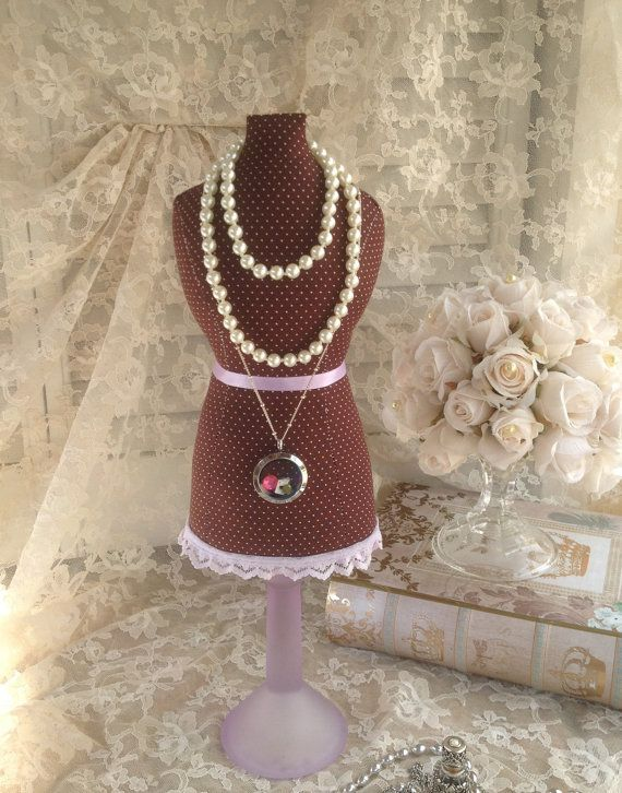 XL Mannequin Dress Form Vintage Inspired Tabletop Necklace Display