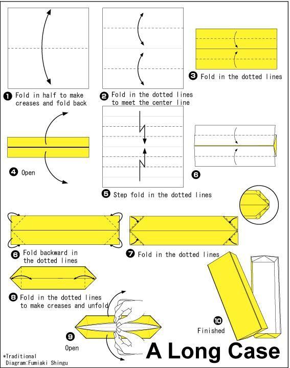origami rectangular box organization pinterest