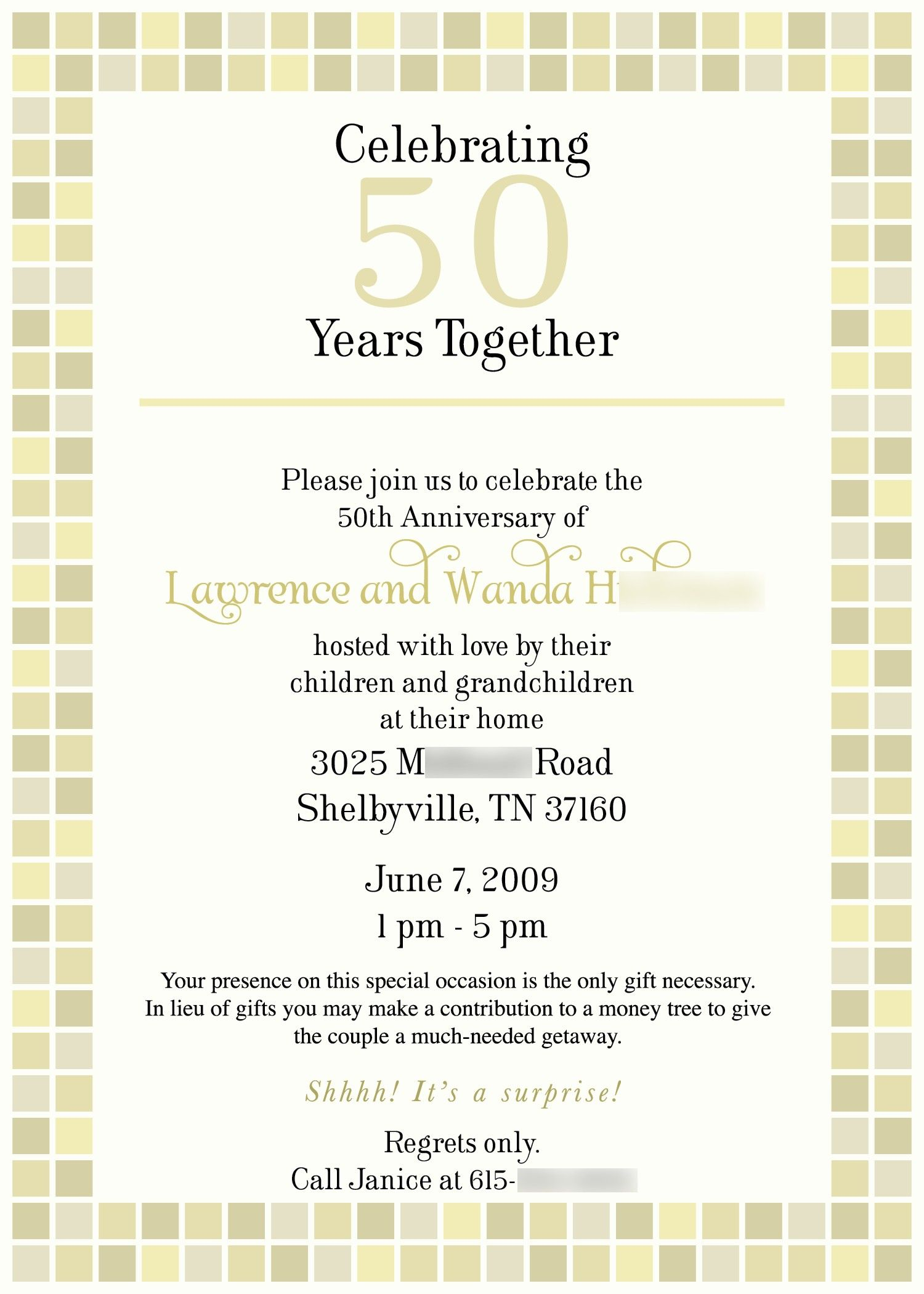 Card Shower Invitation Wording Anniversary Google Search With