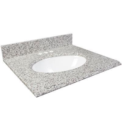 White Ash Granite Top