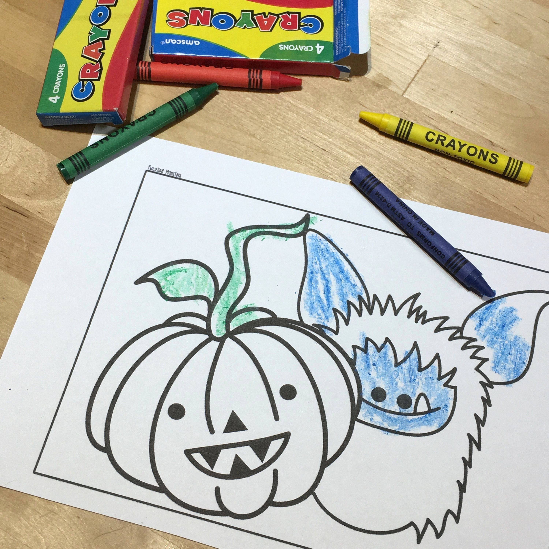 Monster Drawing Book Inspirational Coloring Book And Crayons Inspirational Yipiii Crayon Monster Coloring Pages Witch Coloring Pages Coloring Pages