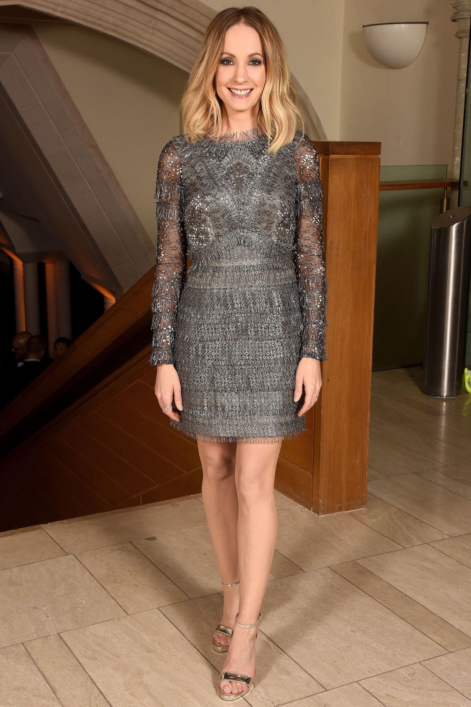 Joanne froggatt looked pretty in a j mendel dress lorraine