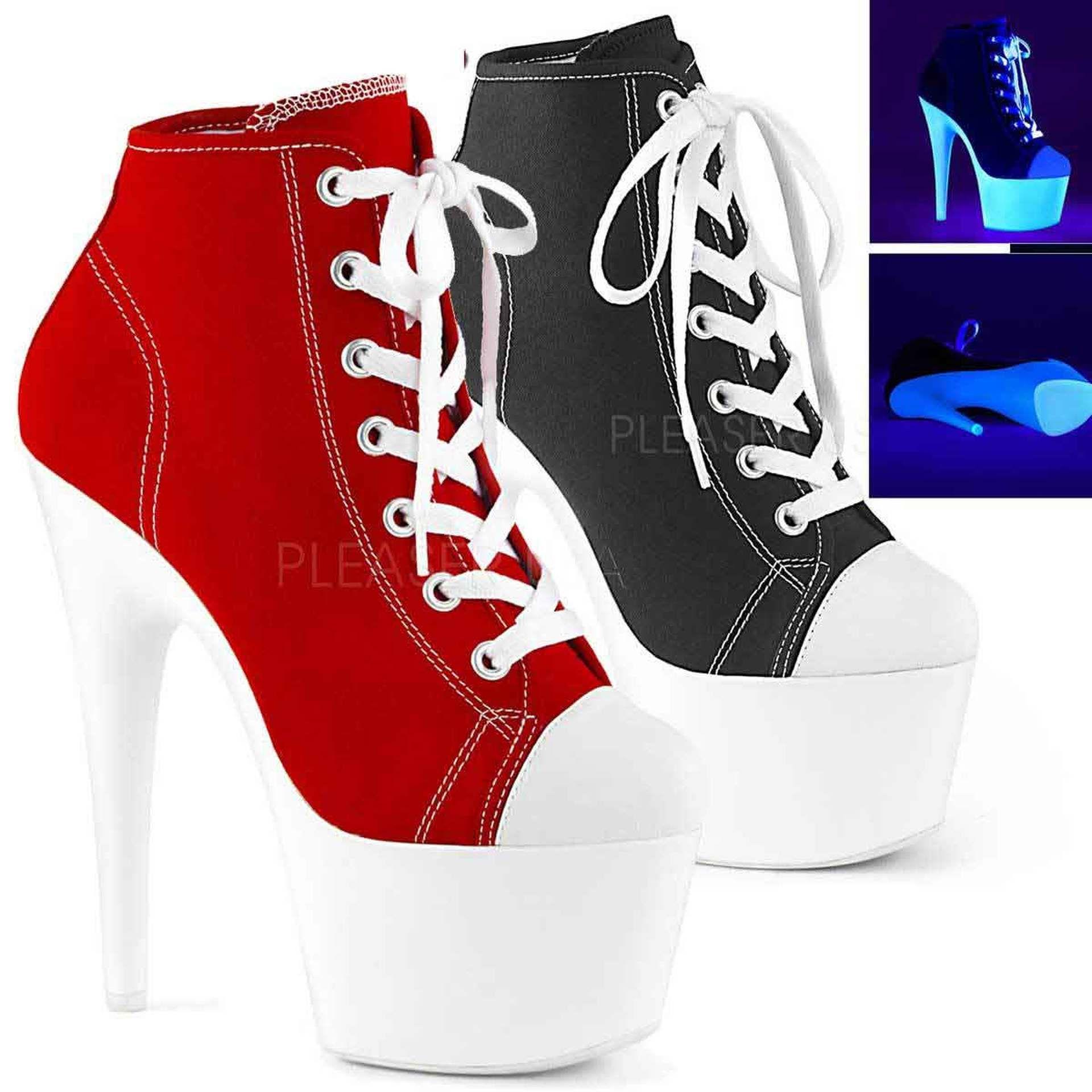 High Heel Platform Sneaker Ankle Boots