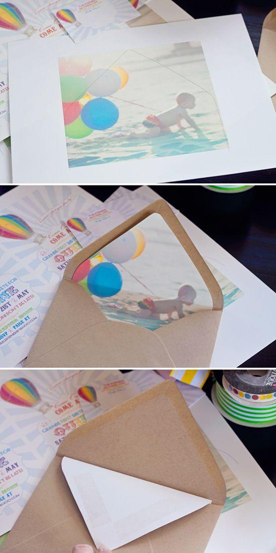 DIY tutorial: a photo envelope liner