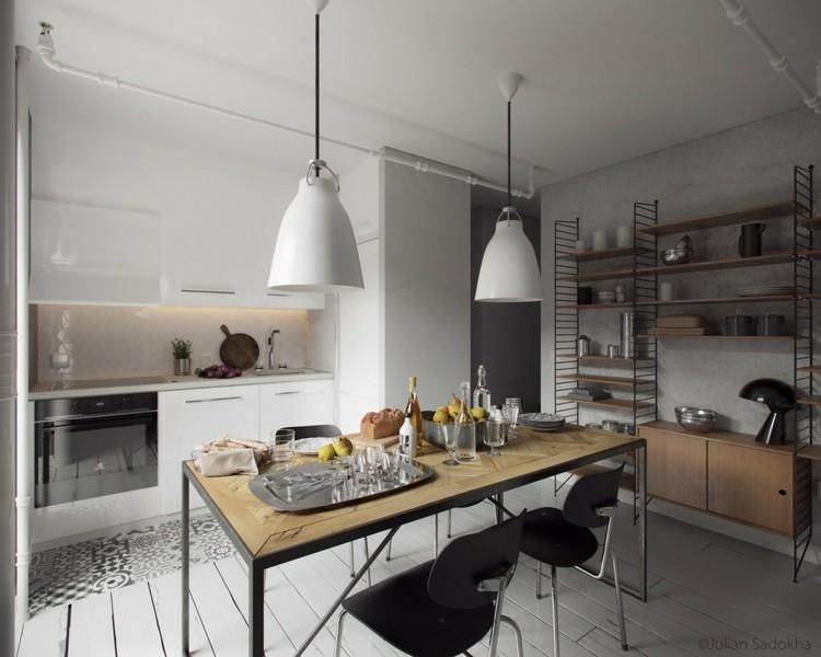 Cooles Interieur mit Details in Grau von Julian Sadokha