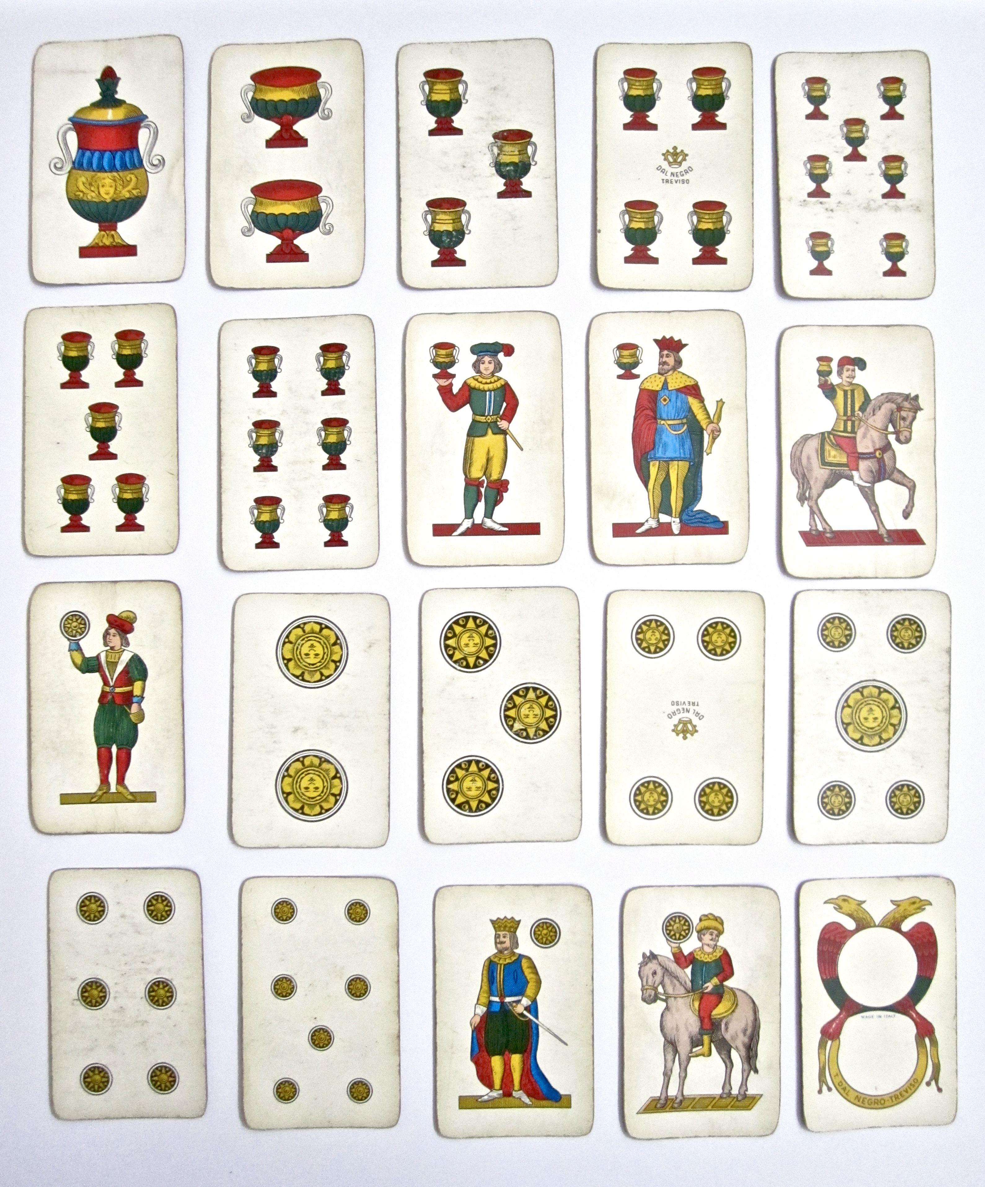 Vintage Playing Cards Dal Negro 1970/'s Regional Italian Card Decks