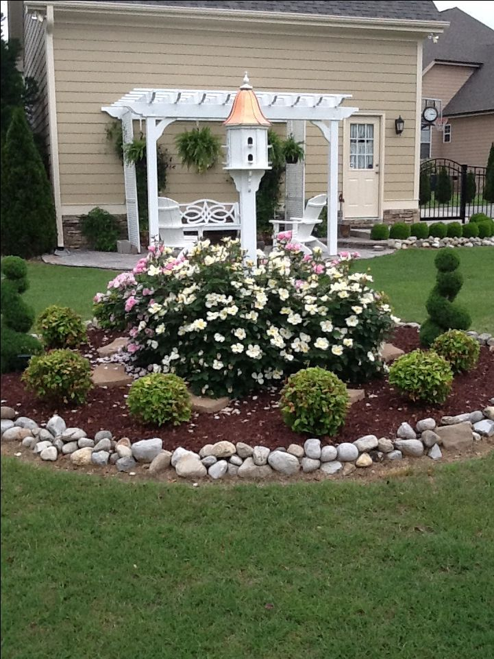Pin By Hazel S Williams On Yard And Garden Landscaping With Rocks Corner Front Flowers