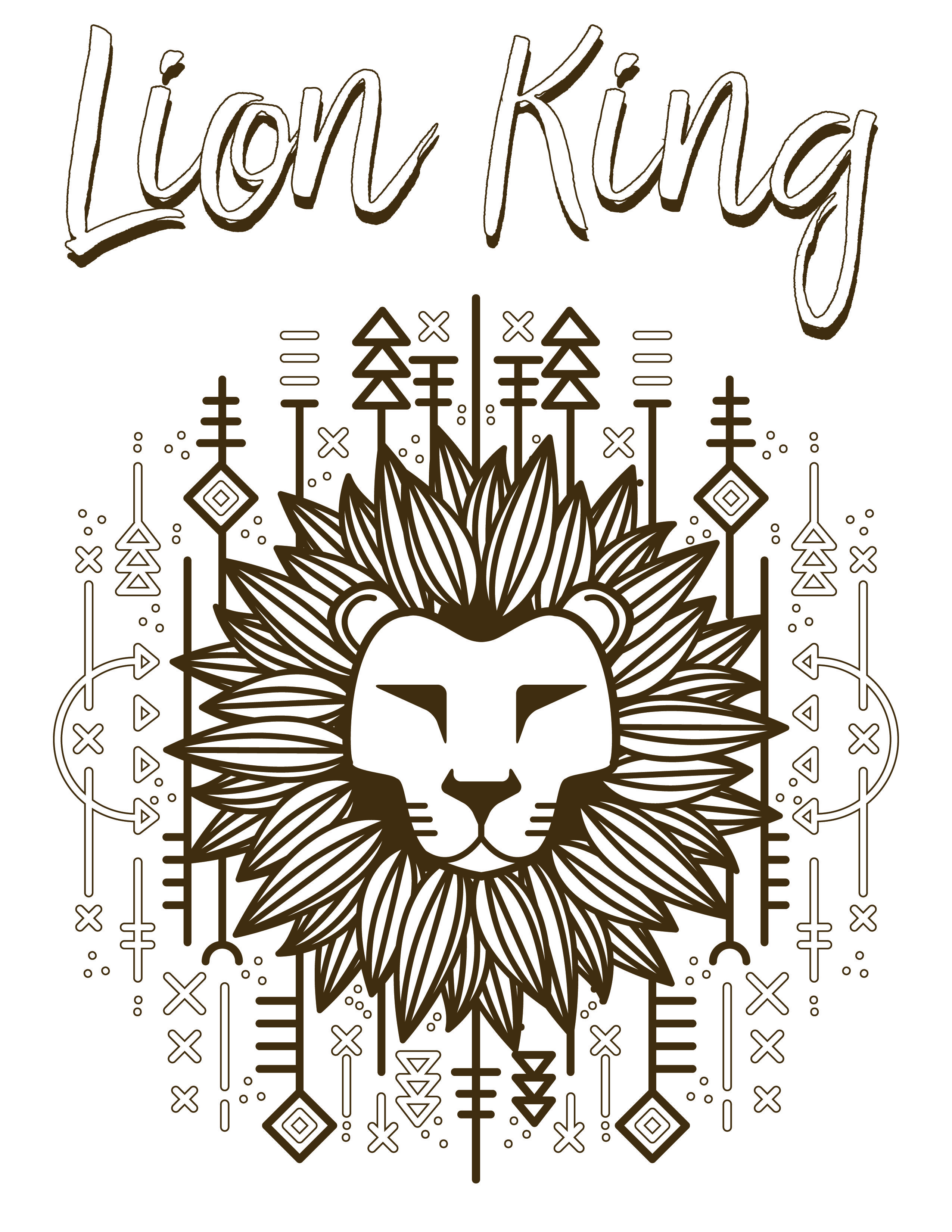 Frais Dessin A Colorier Gratuit Roi Lion