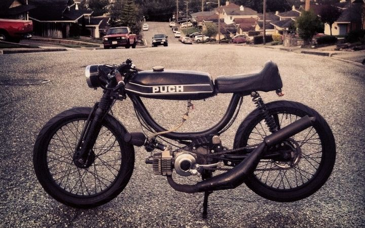 Puch Magnum Mini Maggy By Joseph Santos Bikevx Moto Guzzi Cafe Racer Puch Riders On The Storm