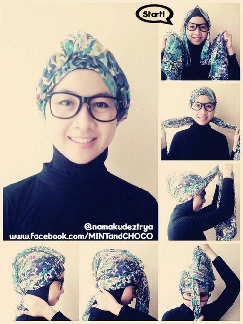 Easy Turban Style Hijab Tutorial Hijab Turban Style Hijab
